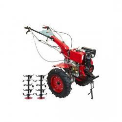 Motocultor Diesel DAKARD 1100BE 12CP cu roti 500x12mm A4office
