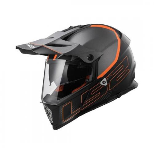 Casca enduro LS2 MX436 Pioneer Element Matt Black Titanium A4office