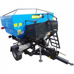 Masina de imprastiat ingrasaminte, MIG (azot) tractat Bufer, model BFRMIG Pro 2500 litri, discuri zincate A4office