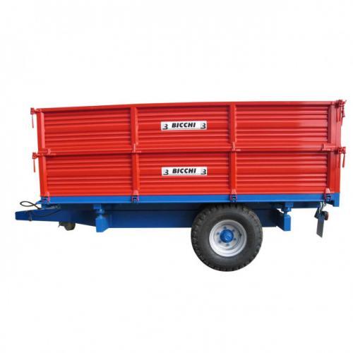 Remorca monoax Bicchi, basculabila pe 3 parti model BRT555, 6 tone A4office