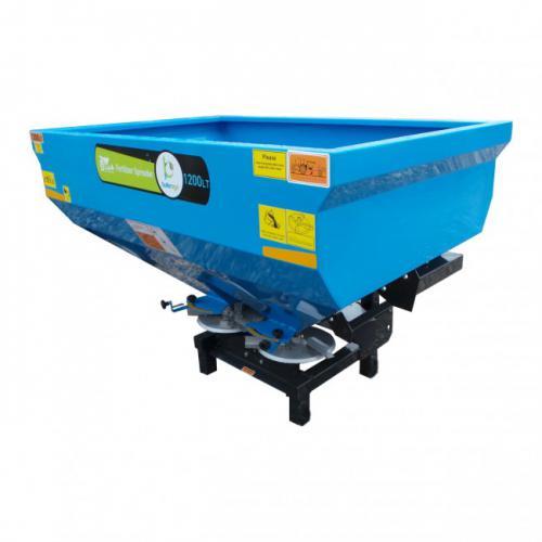 Masina de imprastiat ingrasaminte, MIG (azot) purtat Bufer model BFG/DD120H, 1200 litri, discuri INOX A4office